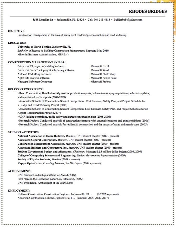 Sample Construction Management Resume - http://exampleresumecv.org/sample-construction-management-resume/