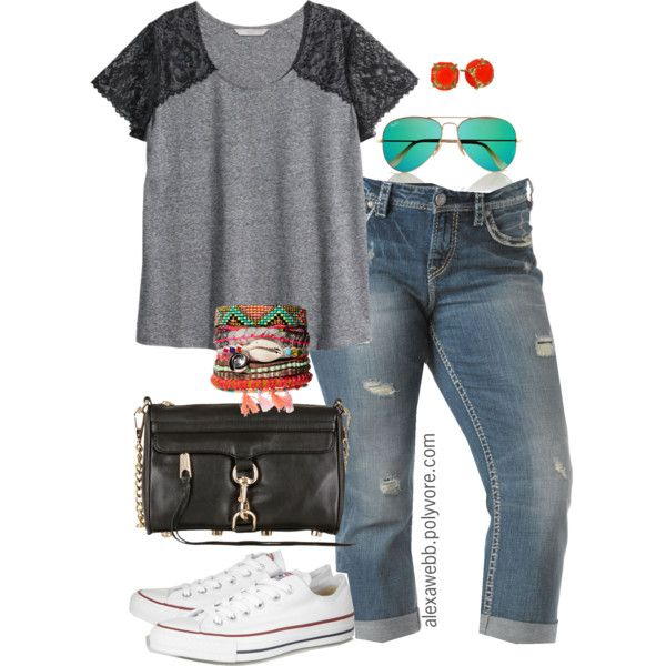 """#plus #size #outfit #summer """"T & Jeans - Plus Size"""" by alexawebb on Polyvore"""