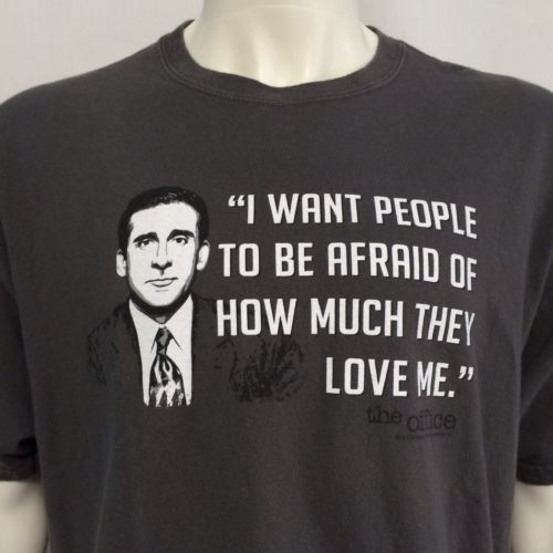 ee736191 The Office XL T-Shirt Michael Scott Steve Carell Quote NBC TV Series Show  Comedy