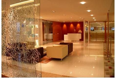 Interior Design Drawing Room on Glass Partition In Living ...