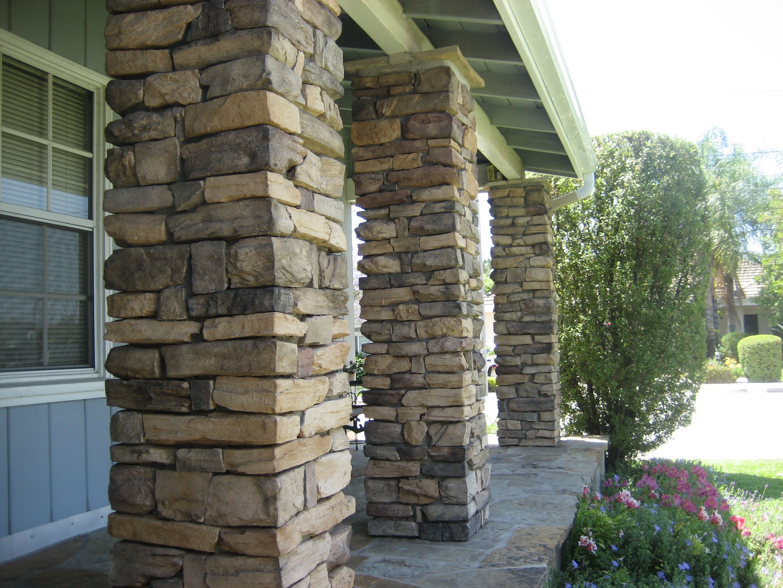 Stone Veneer Columns : Stone columns g walls pillars and