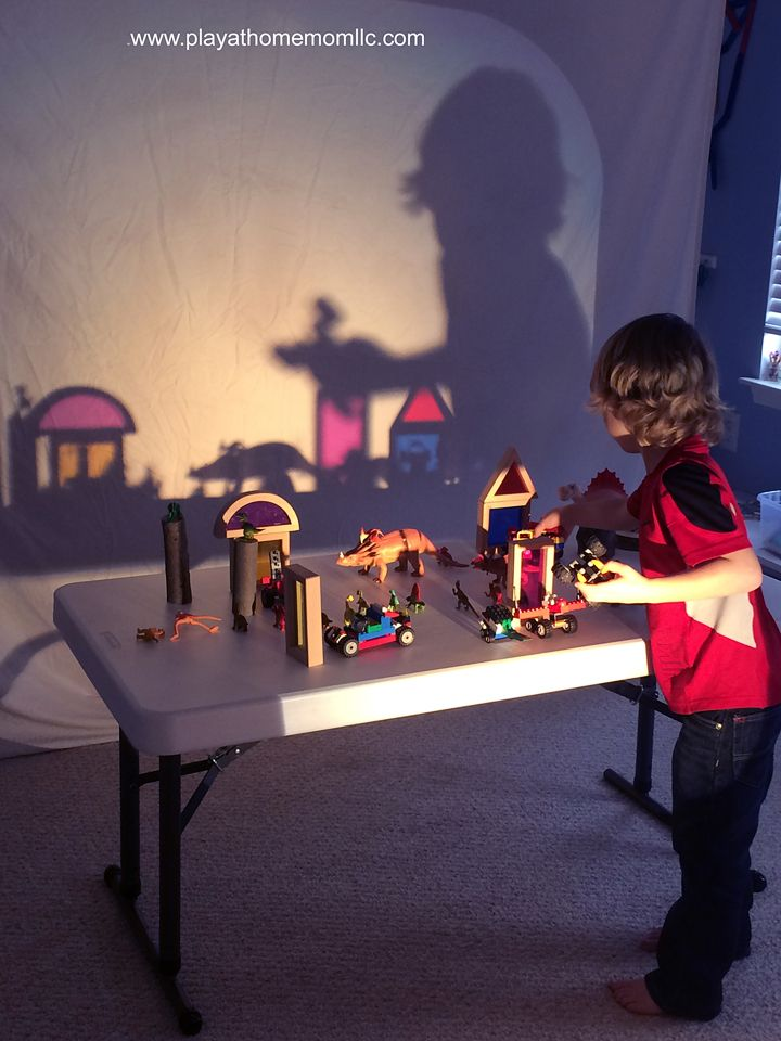 Shadow Light Play With Colored Glass Blocks Dinosaurs Natural