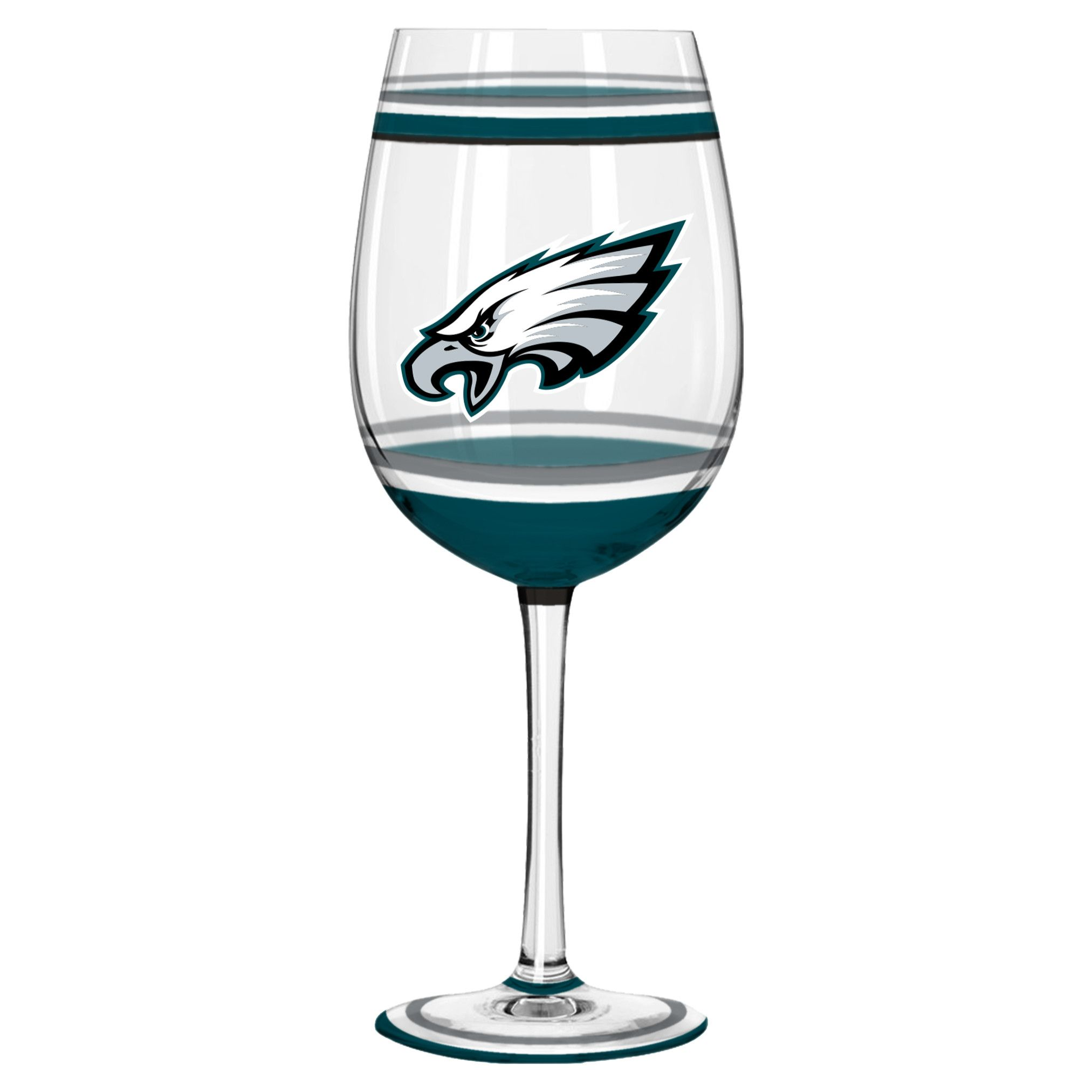 Philadelphia Eagles Wine Glass  18Oz Brush Painted #Philadelphiaeagles