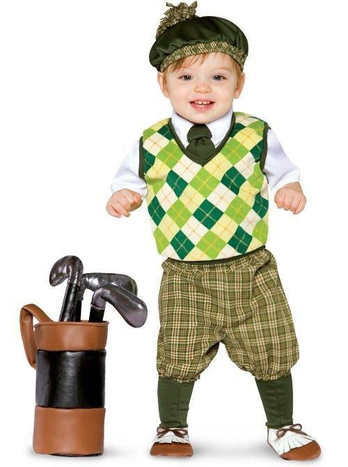 PGA Golfer Infant Toddler Costume - Baby Golf Costumes