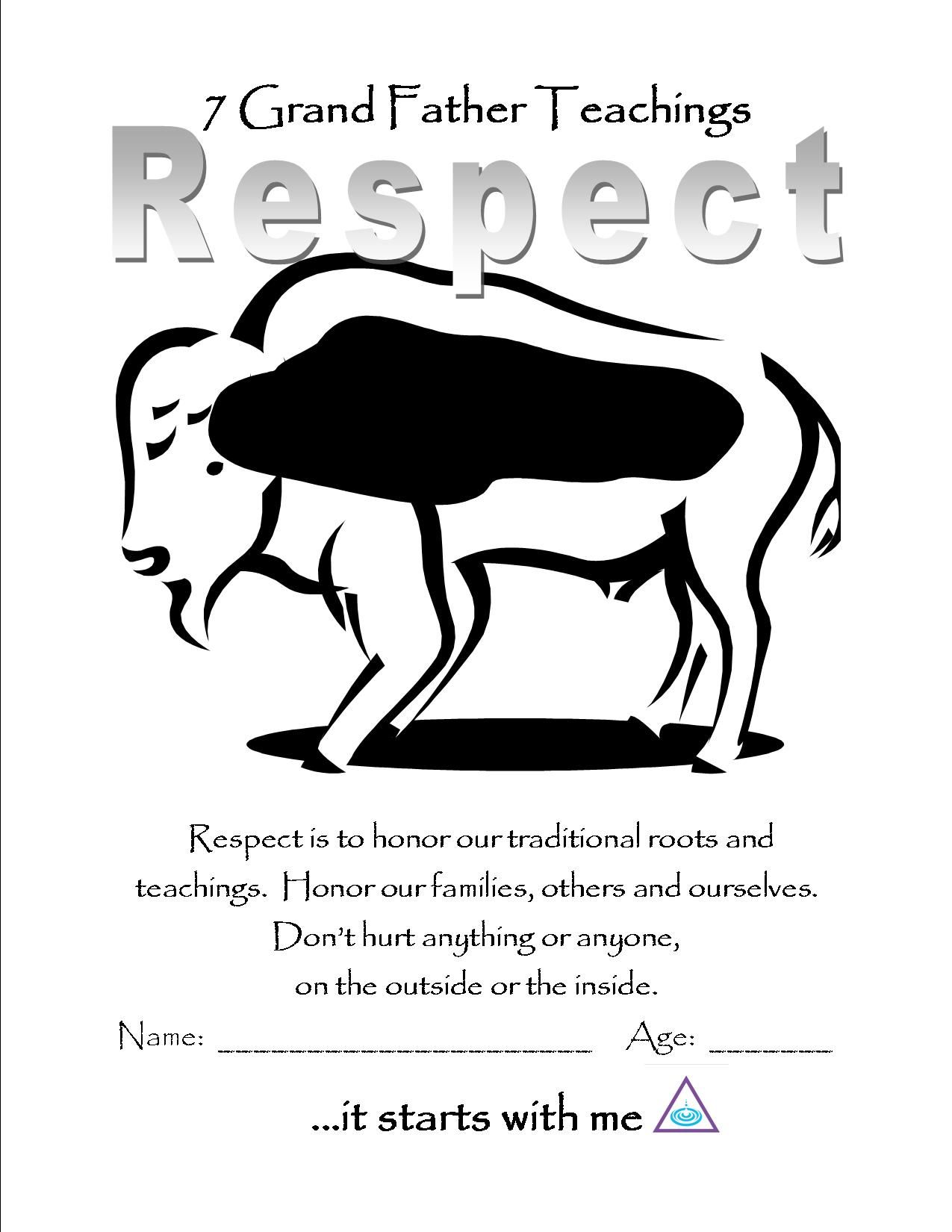 respect color page | Wood Badge: Buffalos | Pinterest | Teaching ...
