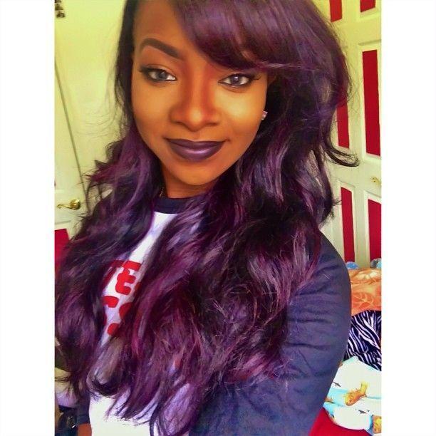 Dark Purple Hair Color On Black Women J8ccrhvt Dark Purple Hair Color Hair Color For Black Hair Dark Purple Hair