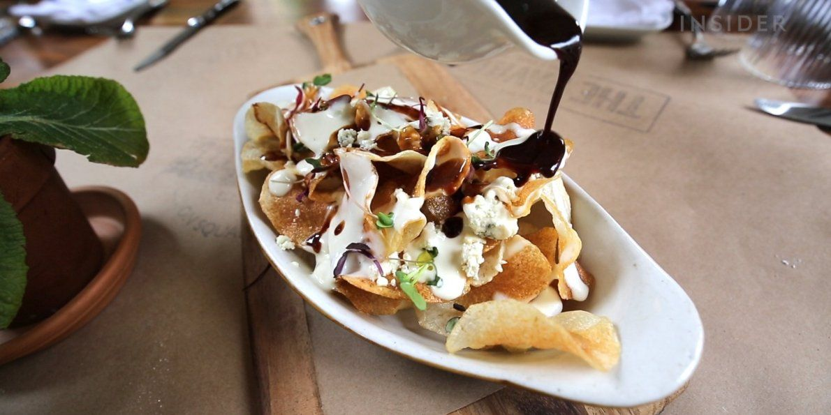 NYC restaurant the Pavilion serves a Poutine with homemade potato chips