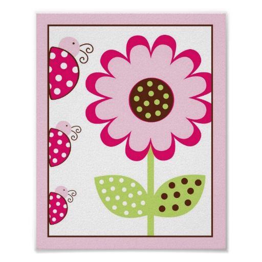 berry garden ladybug nursery wall art print 8x10 nursery wall art cuadros. Black Bedroom Furniture Sets. Home Design Ideas
