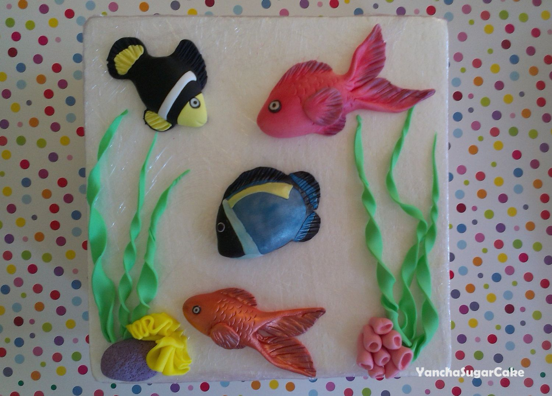 Fondant Edible Fishes Fondant Aquarium Under The Sea Beach