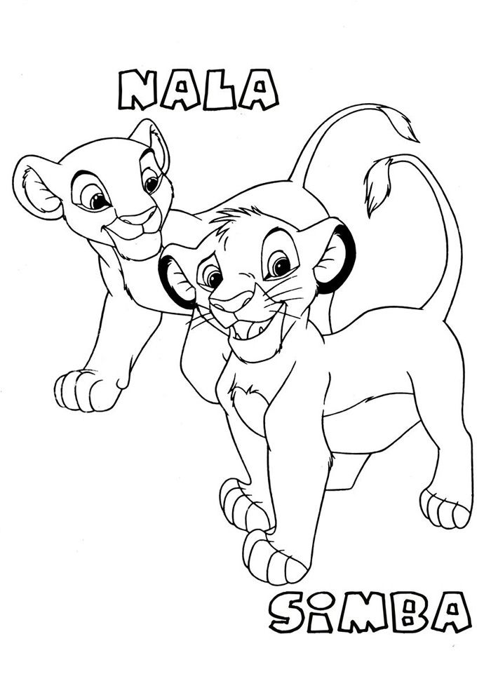 Printable The Lion King Coloring Pages Lion King Pictures King