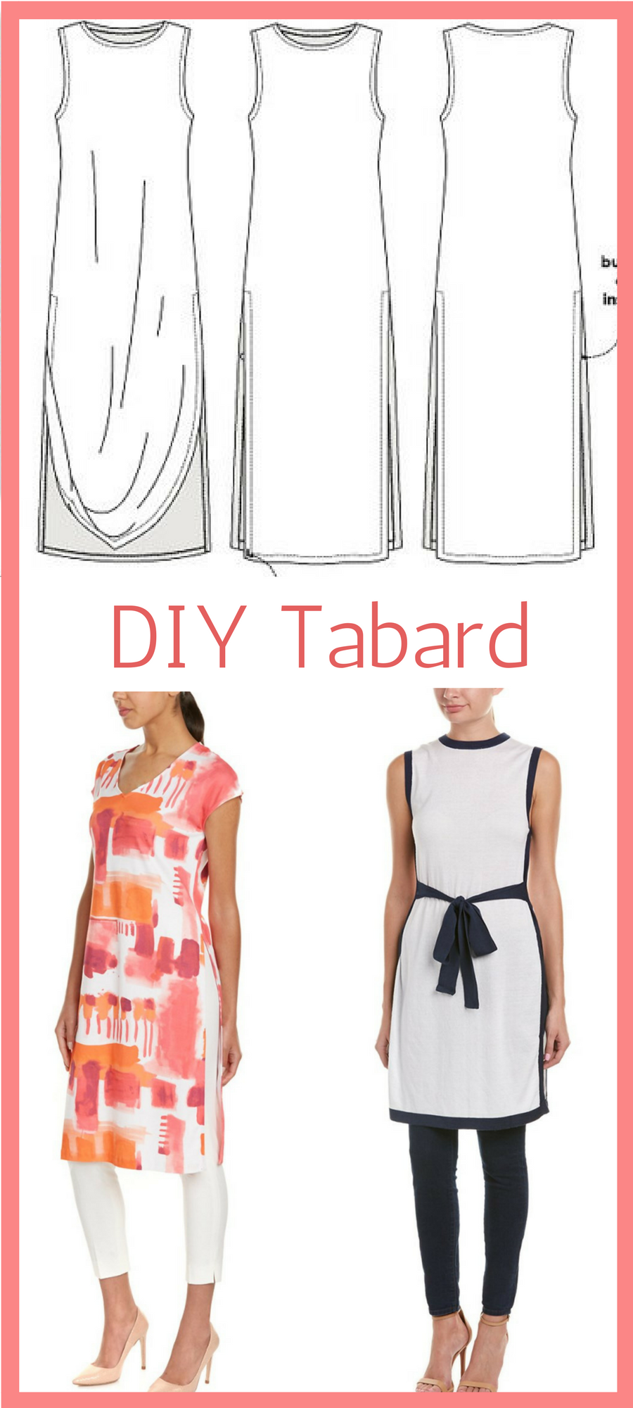 Beautiful and elegant, try sewing a stylish tabard  sewing patter