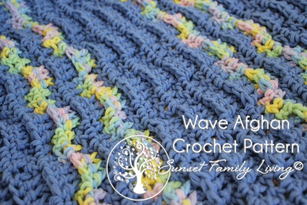 free crochet pattern: wave afghan | Sunset Family Living and Sunset ...