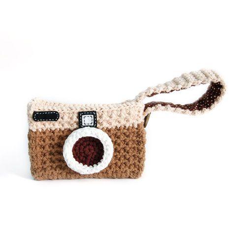 Crochet Camera Everyday Bag #camerapurse