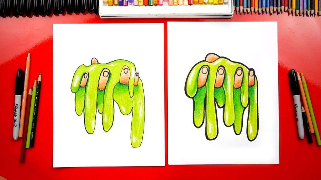 How To Draw Slime Art For Kids Hub Elementary Art
