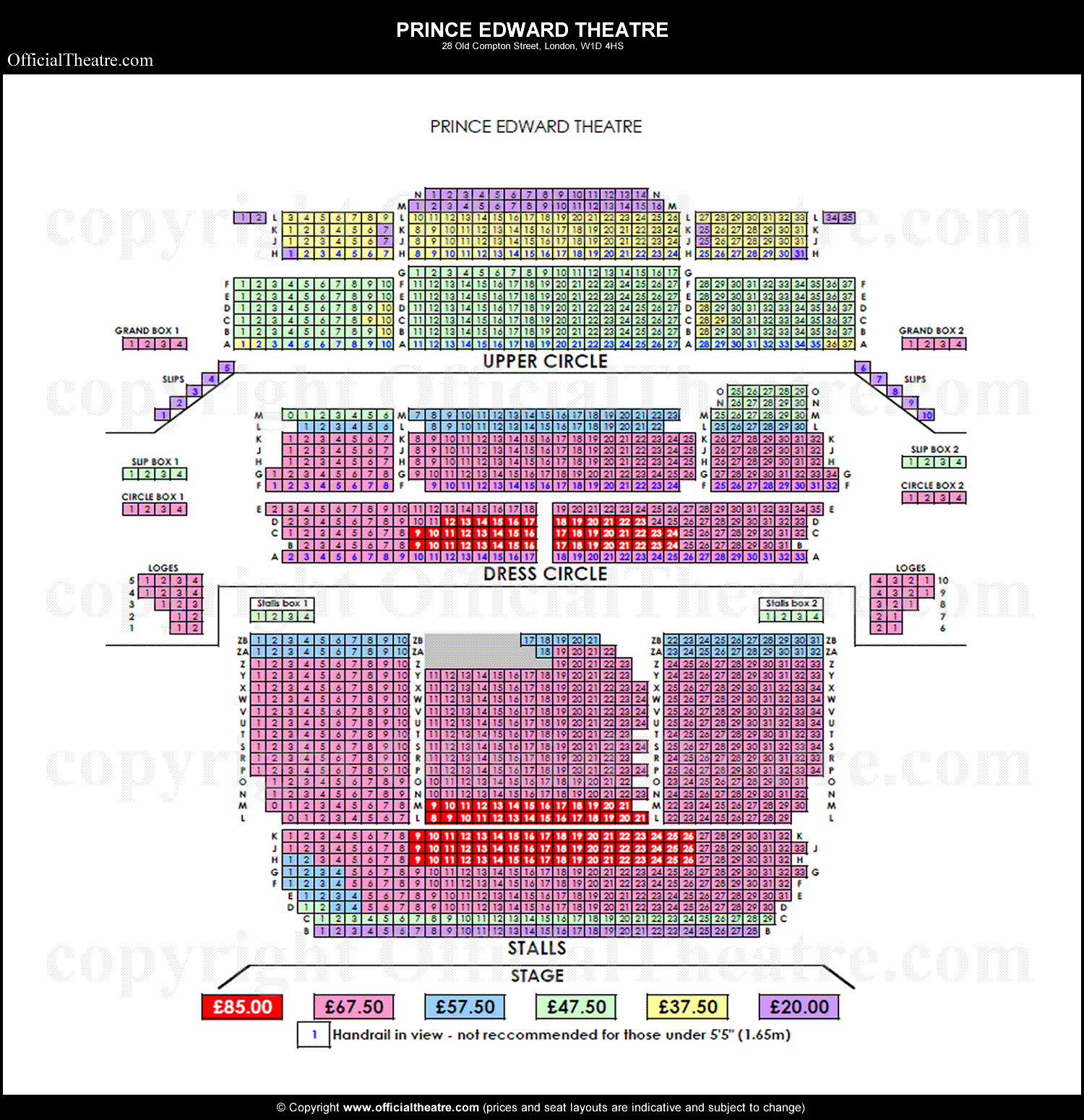 Prince Edward Theatre Seat Prices Outings Pinterest