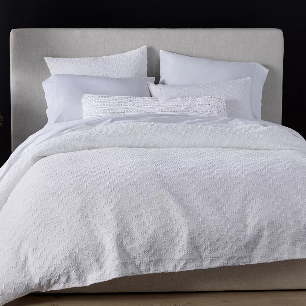 Organic Cotton White Crystal Cove Bedding Collection