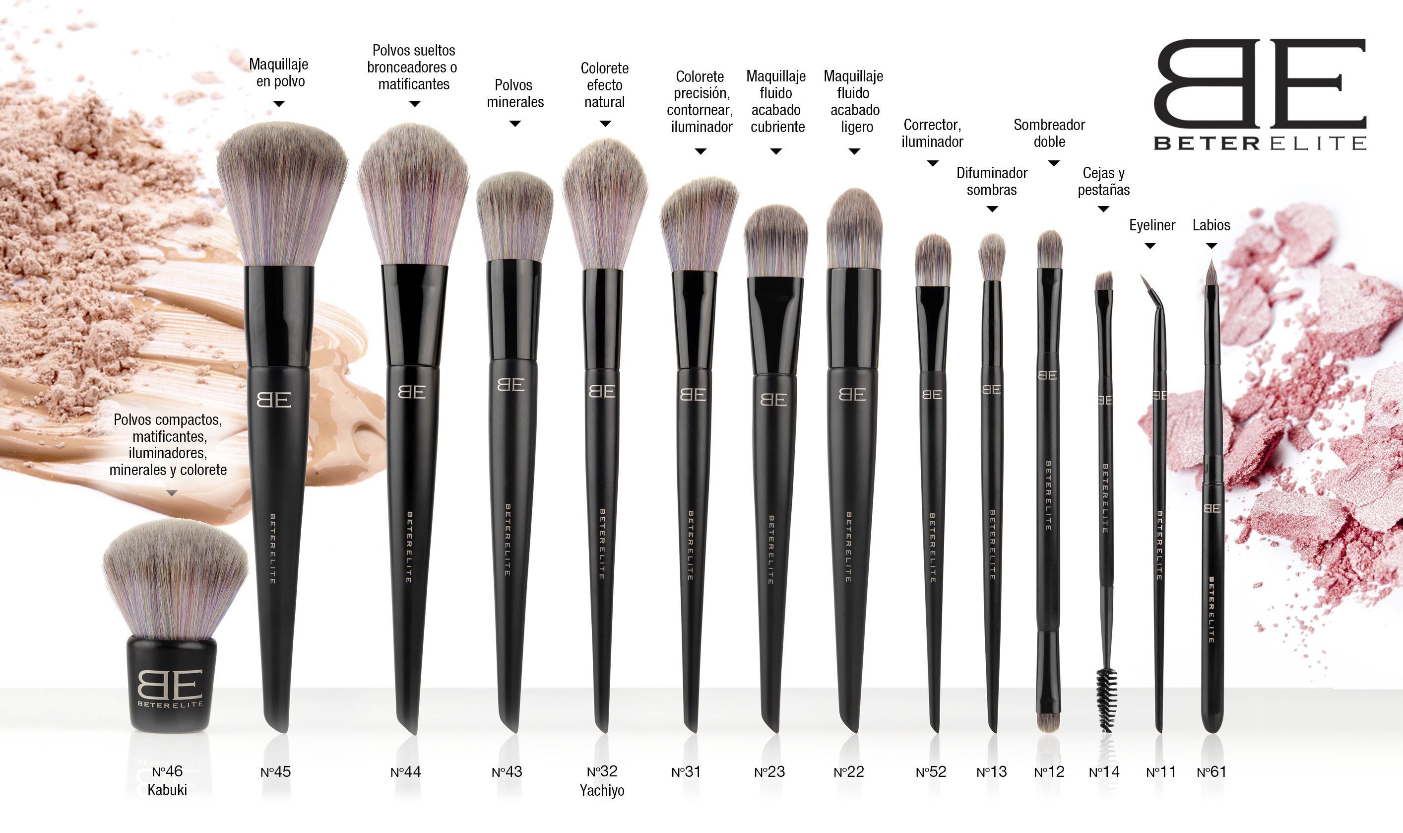 Aplicaciones De Tus Brochas De Maquillaje Brochas Maquillaje