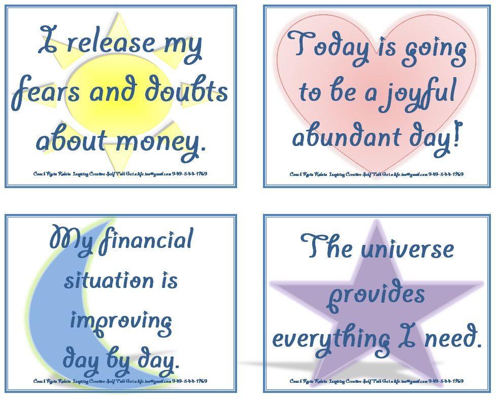 Printable Affirmation Cards Affirmation Cards Money Affirmations Affirmations