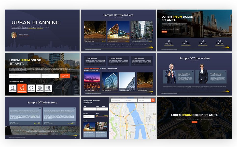 Urban Planning Presentation Powerpoint Template Planning Urban Presentation Template Powe Urban Planning Social Media Design Graphics Creative Powerpoint