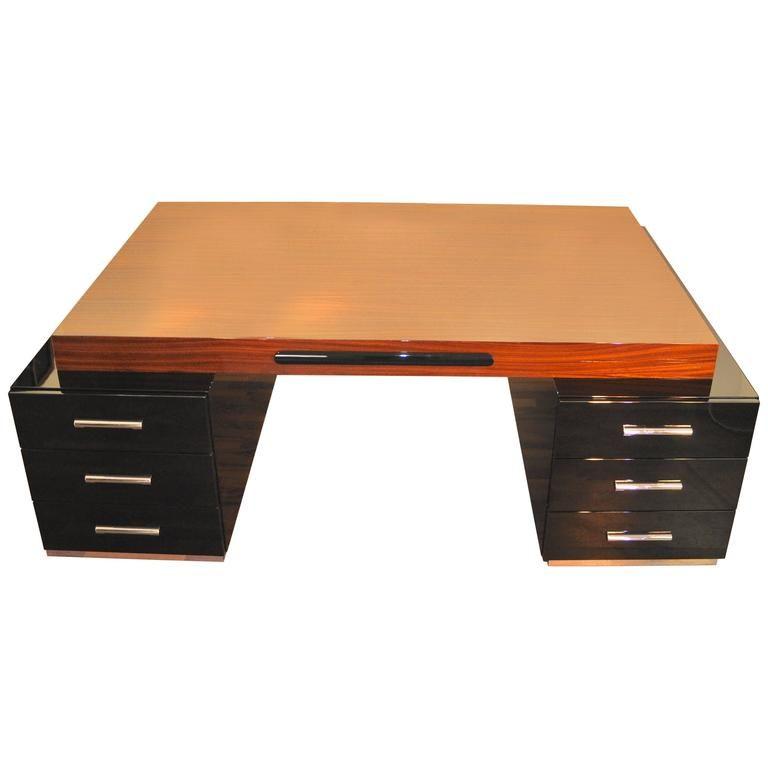 Large Bauhaus Partner Desk With Zebrano Wood 14 000 Denmark