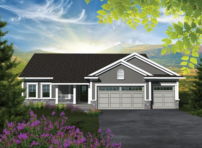 Traditional Style House Plan 3 Beds 2 Baths 1501 Sq Ft Plan 70 1131 Craftsman House Plans Ranch House Plans Ranch Style House Plans