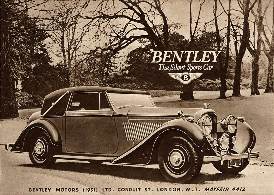 1940s Uk Bentley Sports Cars By The Advertising Archives Vintage