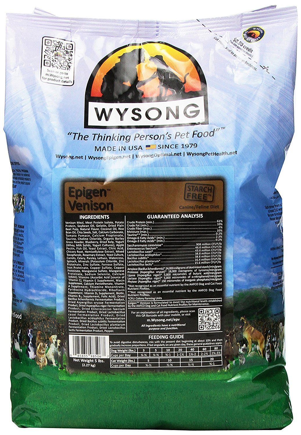 Wysong Epigen Venison Canine/Feline Pet Food, 5-Pound *** Review more details here : Best Cat Food