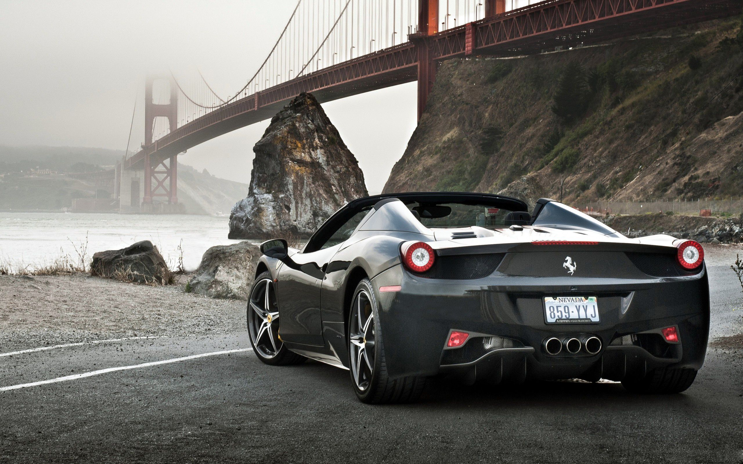 Black Ferrari Wallpaper Desktop Ymu