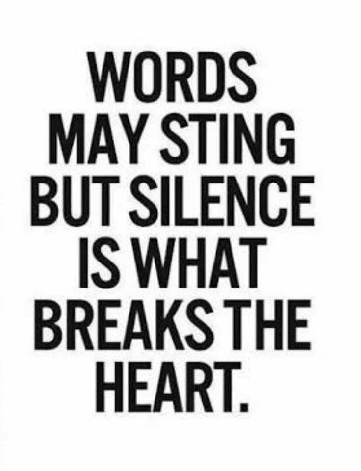 Silence Is What Kills A Relationship Qoutes Pinterest