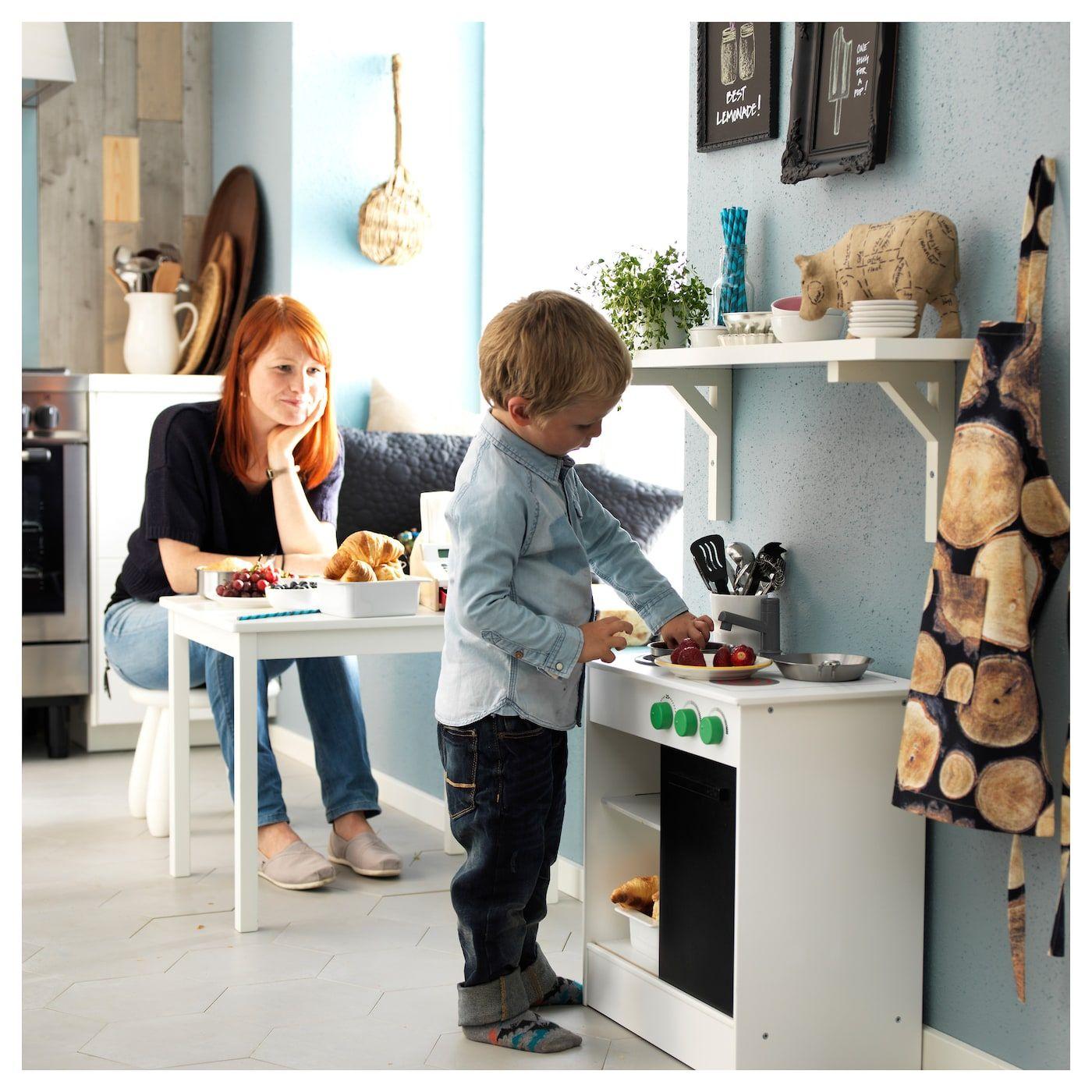 Ikea Nybakad Play Kitchen With Sliding Door White Spielkuche Schiebetur Weiss Und Ikea