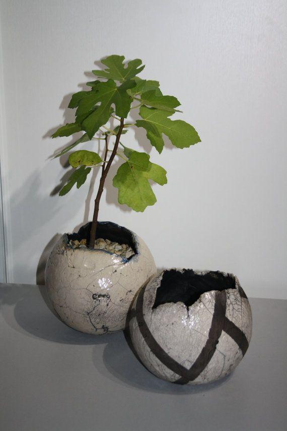 Raku Flower Pot Lera F R Hemmet Och Id Er