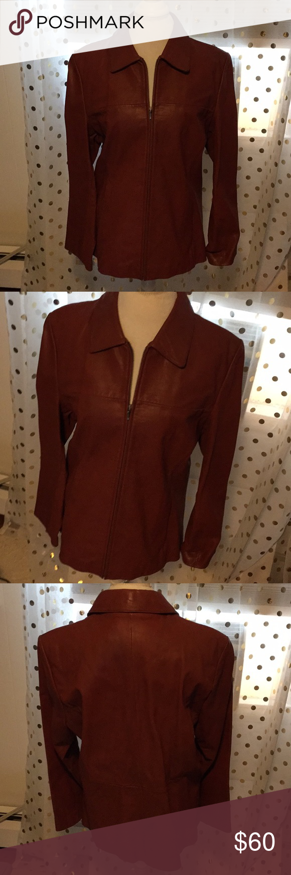 Wilsons Leather Pelle Studio XL Zip Up Jacket EUC (With