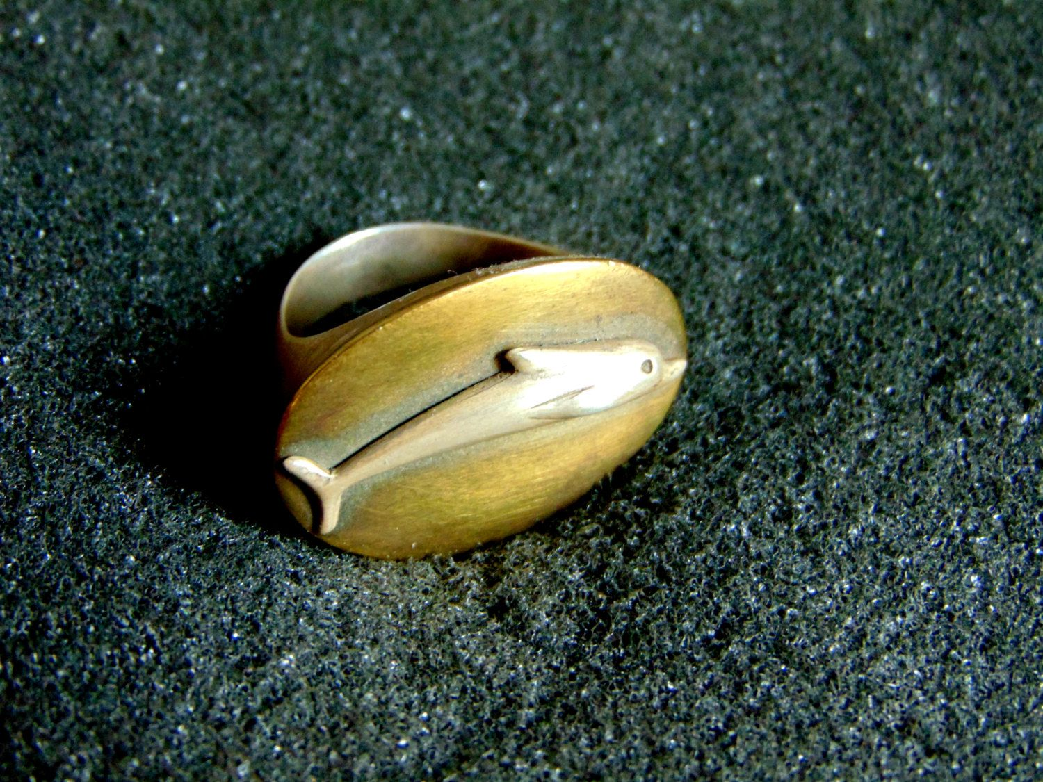 Silver Bronze Ring,Sterling Silver Dolphin Statament Ring,Unusual Silver 925 Rings, Unique Vintage Silver Rings,Artisan Jewelry,Greek Art by ArchipelagosBreeze on Etsy