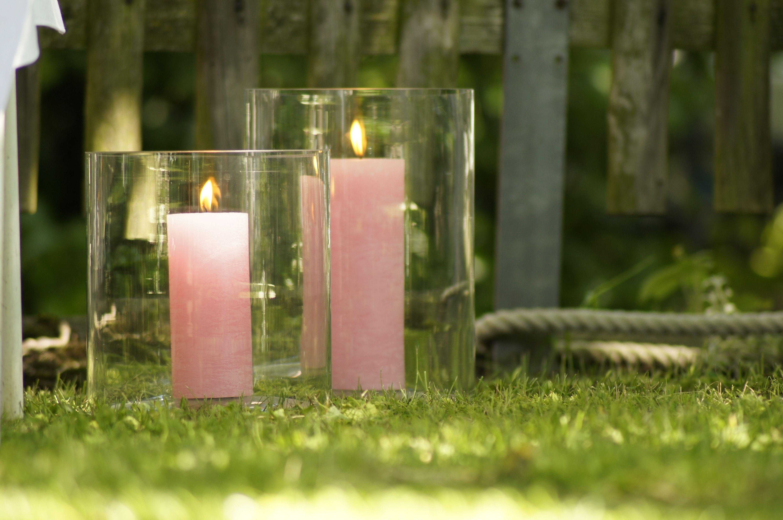Zylinderkerzen Rustico Im Glas Kerzen Zylinder Glas