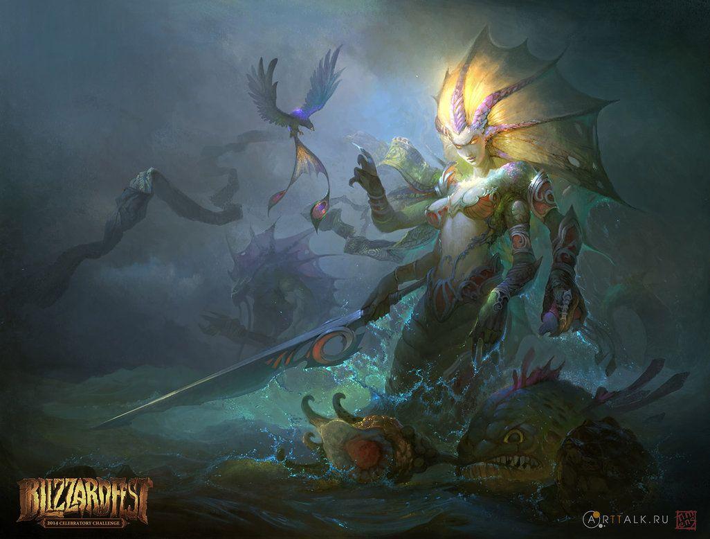 Naga Siren F By Timens On Deviantart Warcraft Art Art Pirate Art