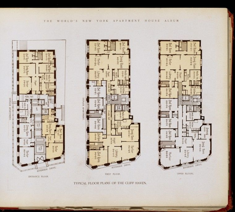 Typical Floor Plans Of The Cliff Haven A R C H I T E C