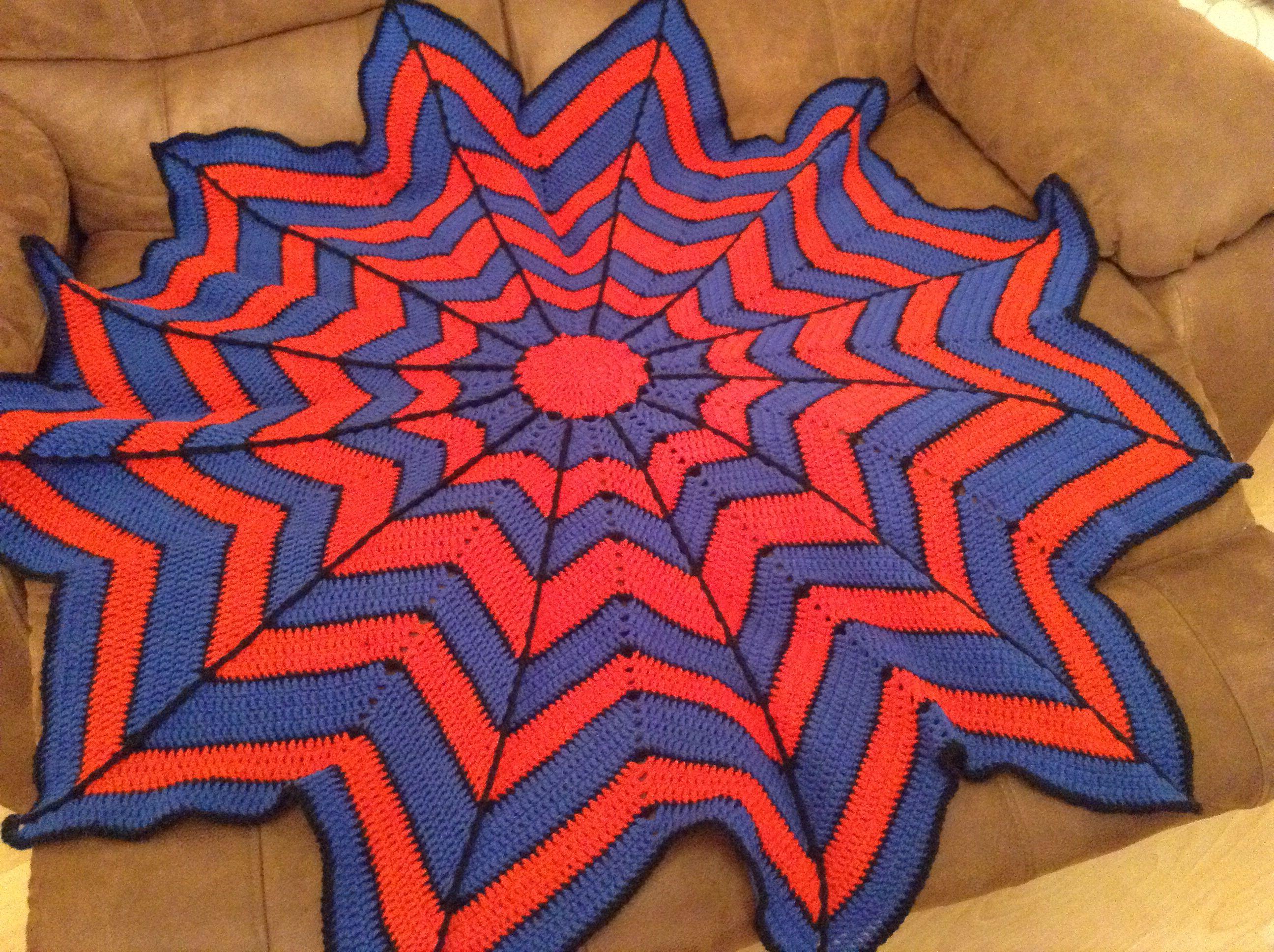 Spider-Man crochet blanket | Crochet | Pinterest | Crochet blankets ...