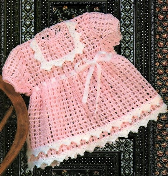 Baby Girls Dress Crochet Pattern. PDF Instant Download. | Crochet ...