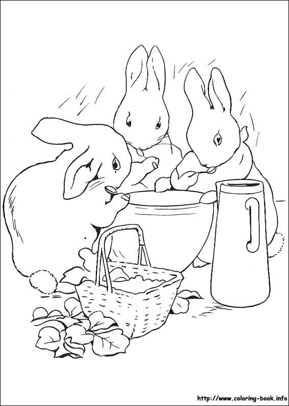 Peter Rabbit coloring picture | Coloring pages and freebies ...