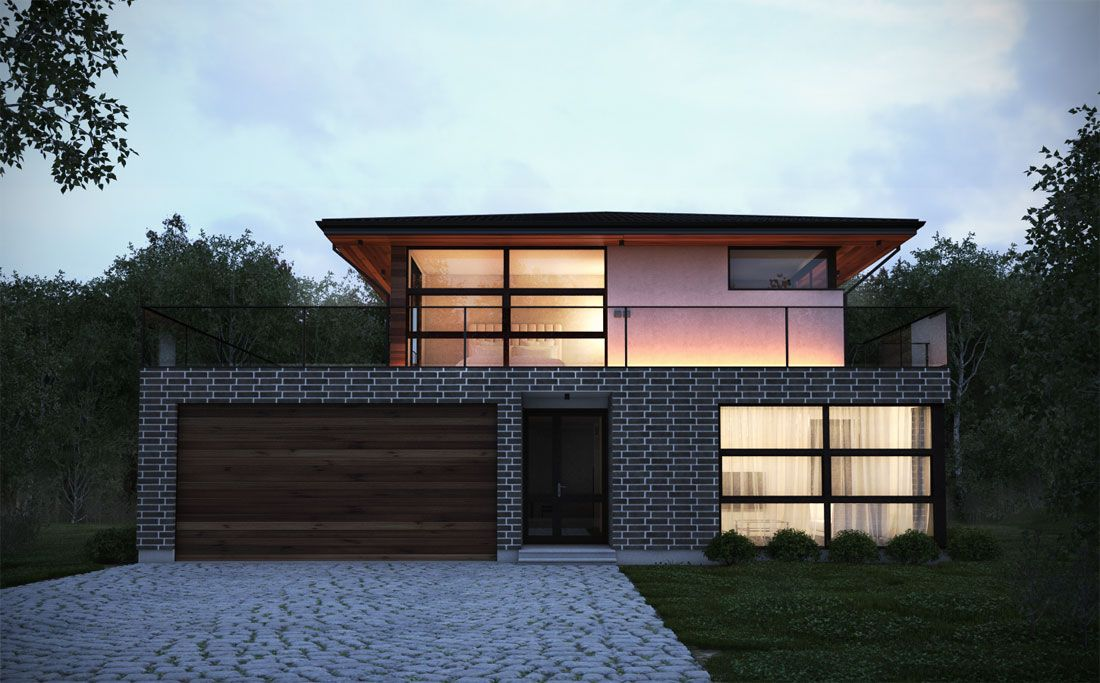 Inside & Outside | Modern House Plans from TOP Architects ...