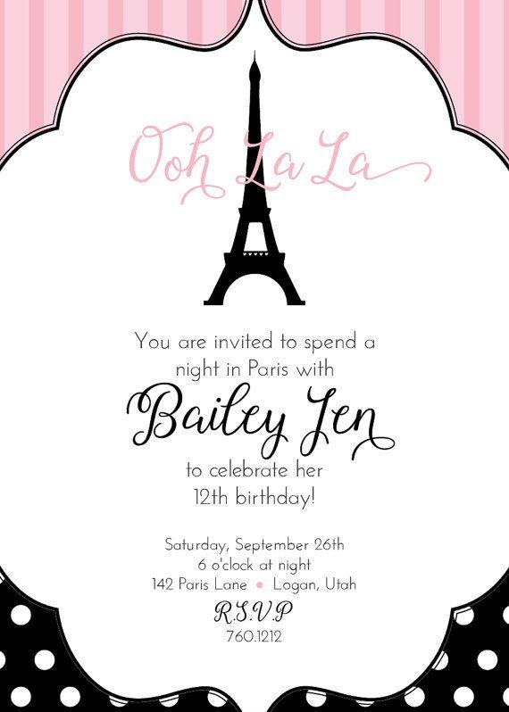 Paris birthday invitation ooh la la paris by lovelylettersdesign paris birthday invitation ooh la la paris by lovelylettersdesign solutioingenieria Choice Image