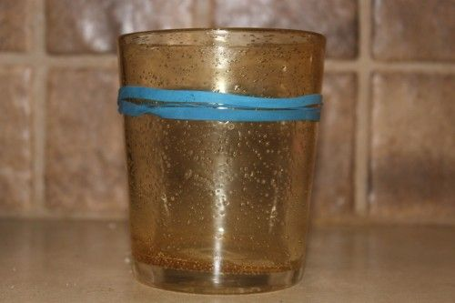 Blue Rubberband Water Glass