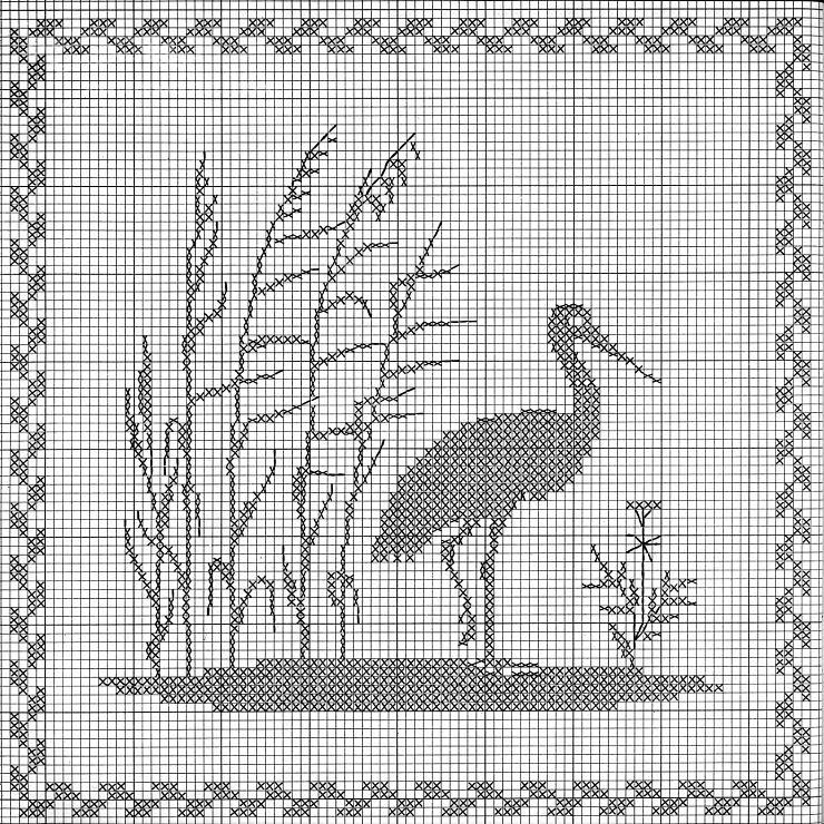 Gallery.ru / Фото #23 - деревья - anapa-mama | Cross stitch birds ...