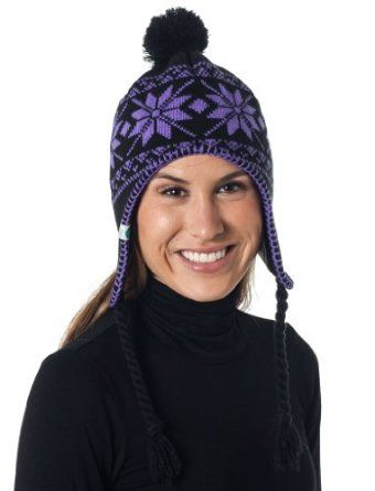 1bc7f1e1734c7 Alki i Braided Neon Aviator warm beanie snowboarding winter snow hats -  Purple Alki i.  9.99
