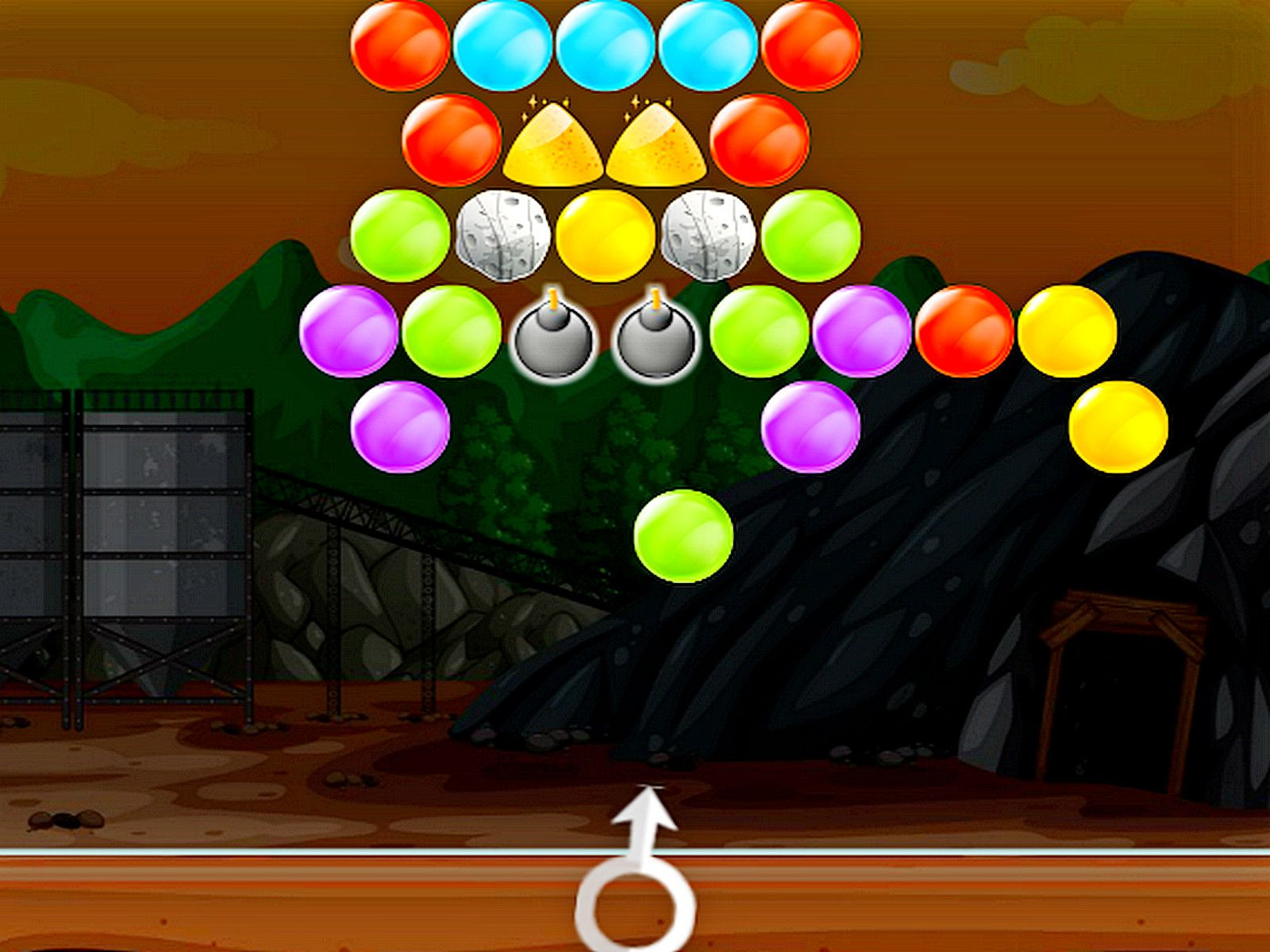 Bubble Gold Mining Bubble shooter games, Shooter game