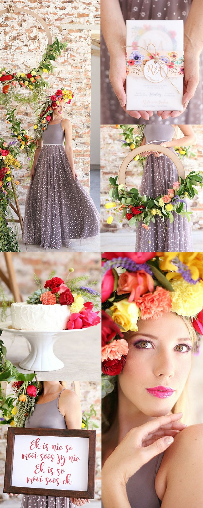 Beauty In Colour Styled Shoot At Lace On Timber Photos Hello Love