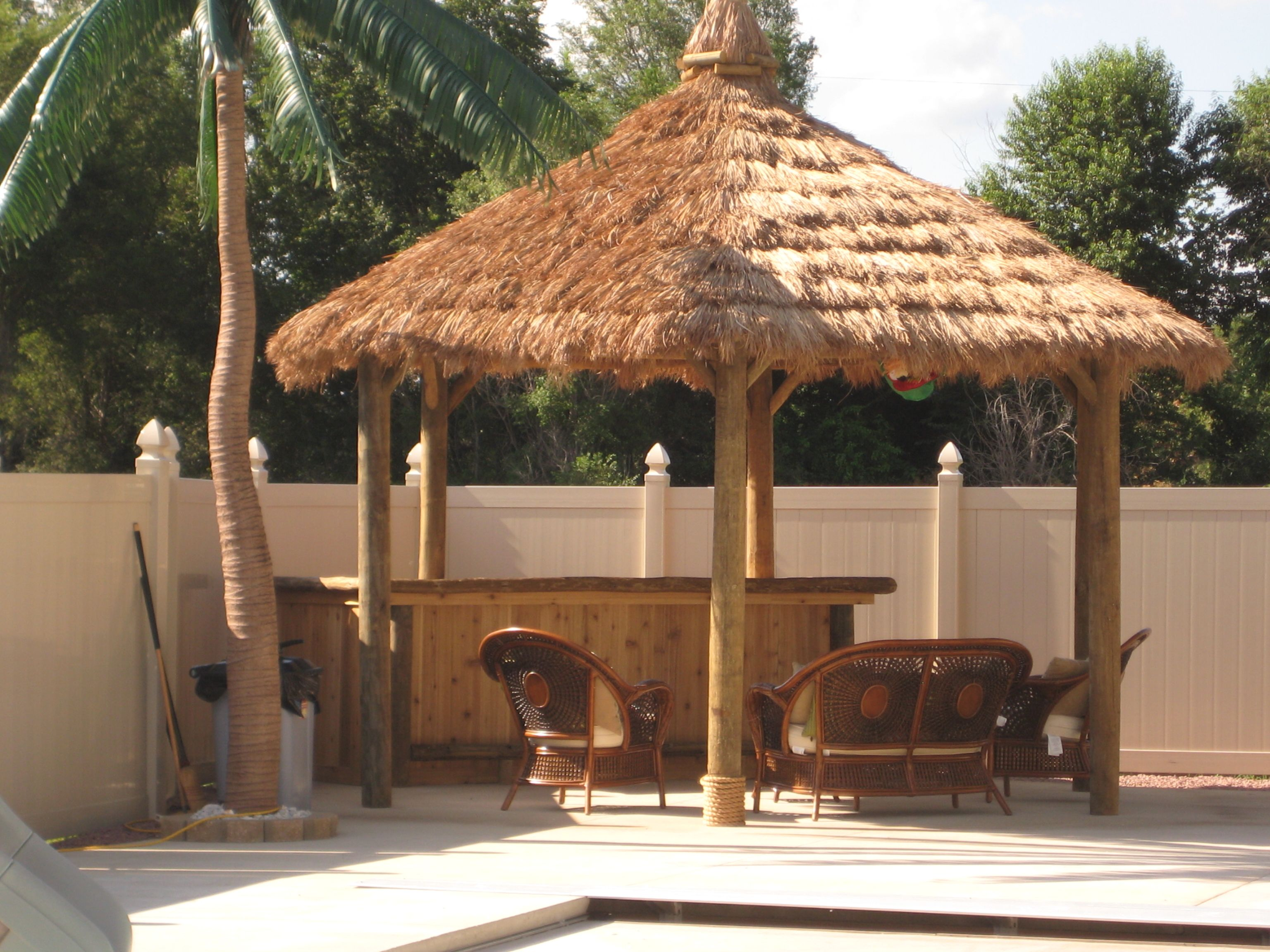 High Quality Tiki Hut Kits Back Yard | DIY Build Your Own Tiki Hut And Tiki Bar Kit