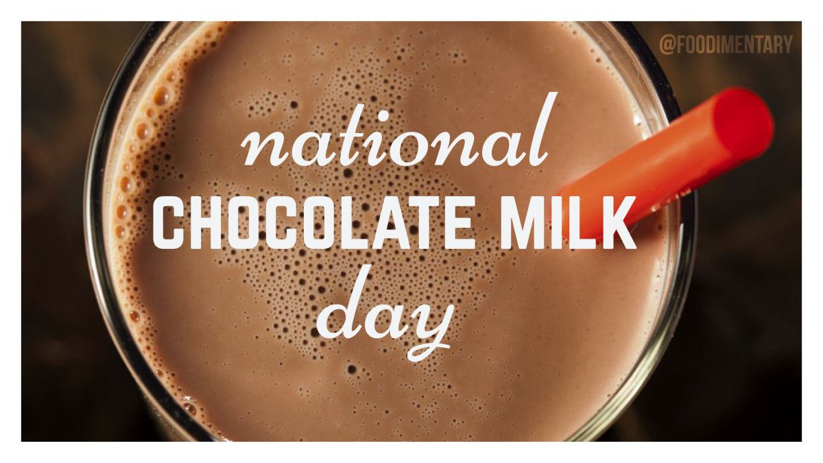 September 27th Is National Chocolate Milk Day Chocolate Milk Chocolate Chocolate Powder