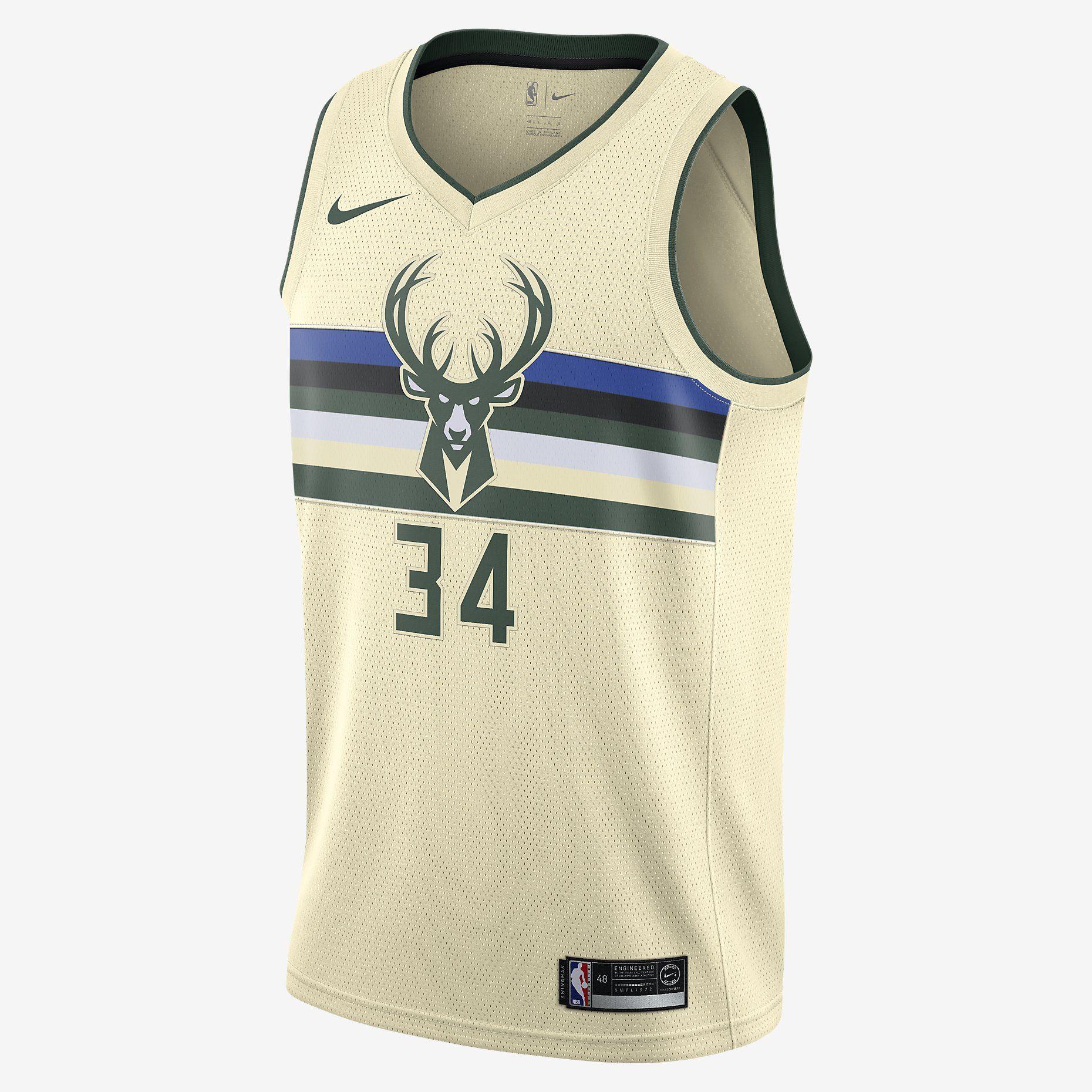 59451a372c8 110   Giannis Antetokounmpo City Edition Swingman Jersey (Milwaukee Bucks) Men s  Nike NBA Jersey
