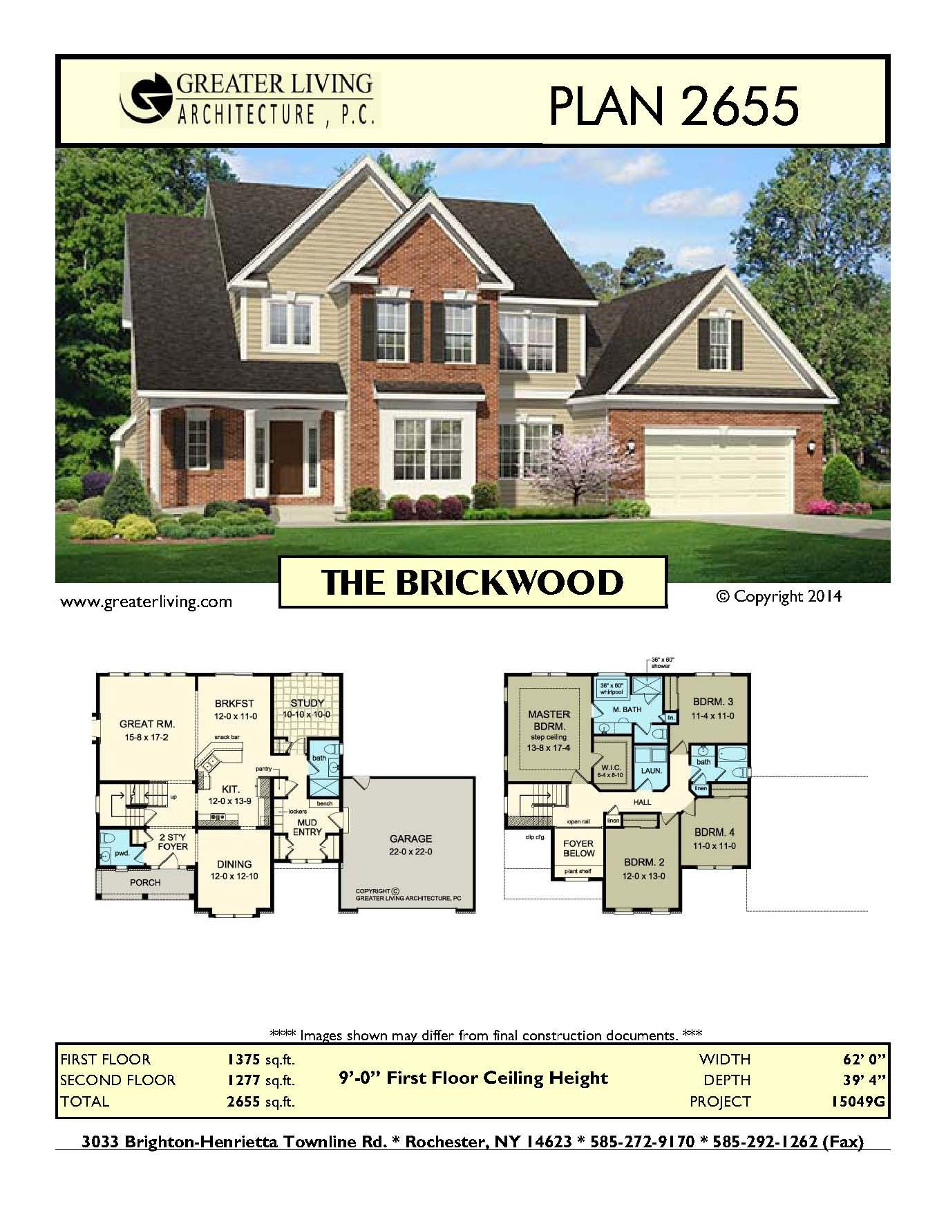 Plan the brickwood house plans two story house plans
